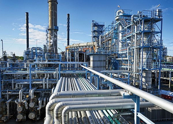 chemical industry processing plant