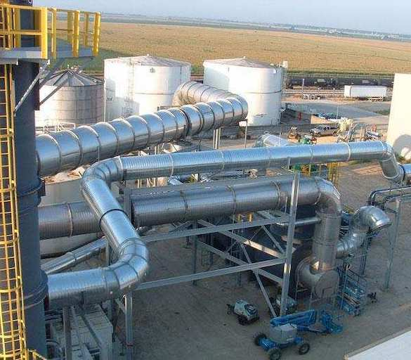installation of a catalytic oxidizer unit at Ethanol plant in Iowa
